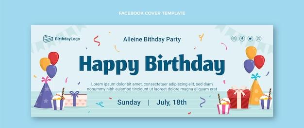 Couverture facebook d'anniversaire minimaliste