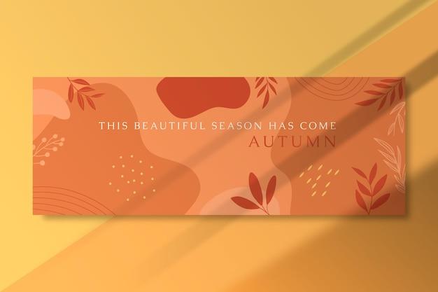 Couverture facebook d'automne avec des feuilles