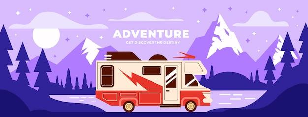 Couverture facebook aventure plate