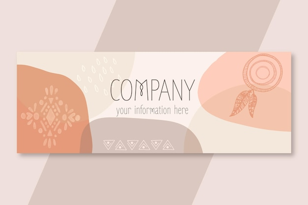 Couverture facebook boho design plat