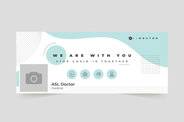 Couverture facebook de coronavirus minimaliste abstrait