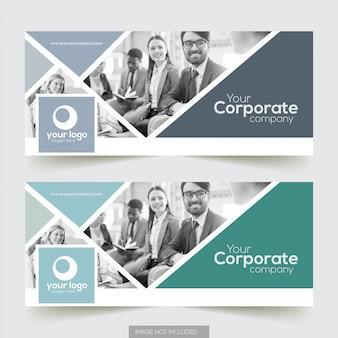 Couverture facebook corporative avec design d'élément photo