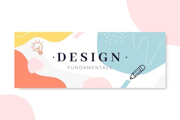 Couverture facebook design coloré dessiné à la main