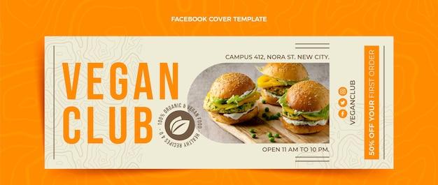 Couverture facebook design plat