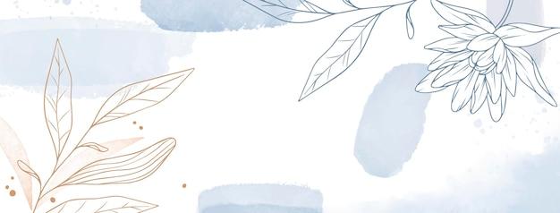 Couverture facebook dessinée à la main à l'aquarelle