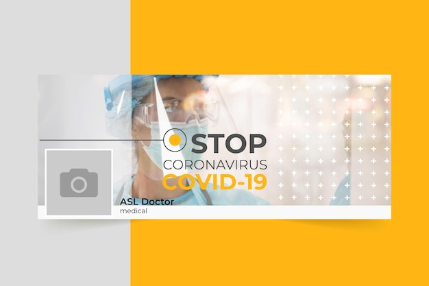 Couverture facebook du coronavirus photo et texte