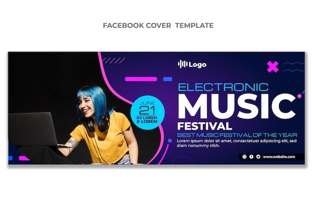Couverture facebook du festival de musique en demi-teinte dégradé