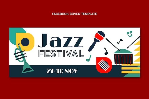 Couverture facebook du festival de musique minimal de style plat
