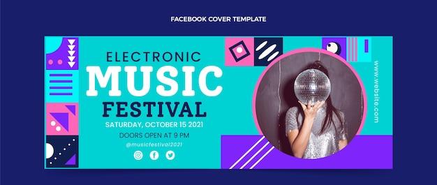 Couverture facebook du festival de musique en mosaïque plate