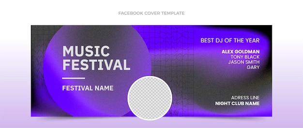 Couverture facebook du festival de musique à texture dégradée