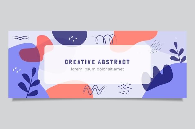 Couverture facebook de formes abstraites dessinées à la main