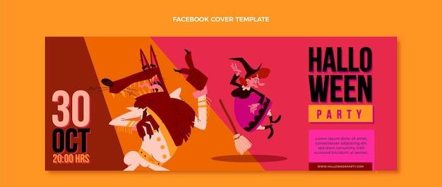 Couverture facebook halloween design plat