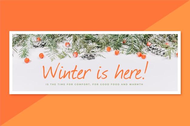 Couverture facebook d'hiver créative