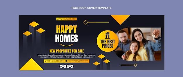 Couverture facebook de l'immobilier dégradé