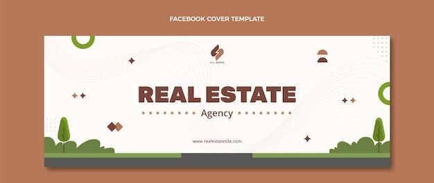 Couverture facebook de l'immobilier géométrique abstrait