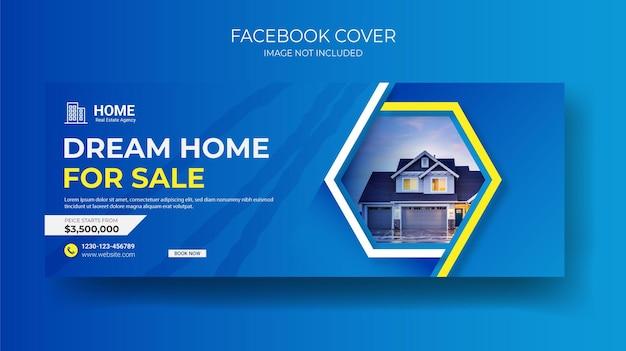 Couverture facebook de l'immobilier et publication sur les réseaux sociaux de la maison ou modèle de bannière carrée