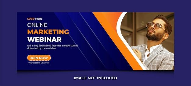 Couverture facebook de marketing numérique dans un dessin abstrait