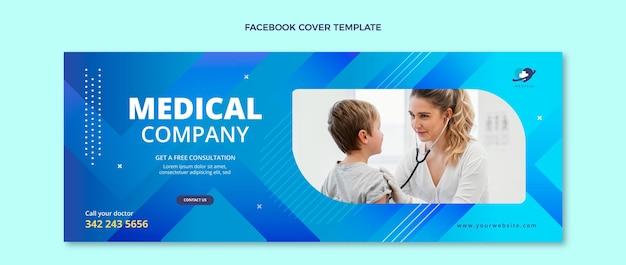 Couverture facebook médicale dégradée