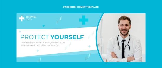 Couverture facebook médicale de style plat