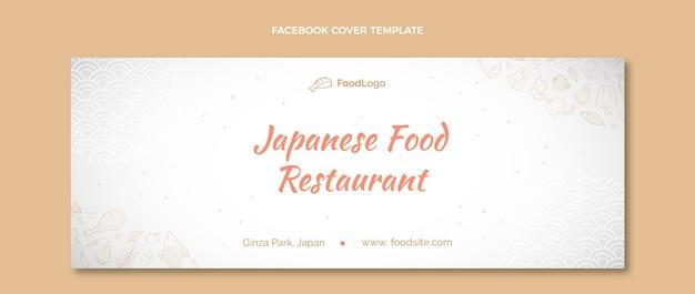 Couverture facebook de nourriture dessinée à la main