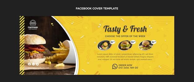 Couverture facebook de nourriture fraîche design plat