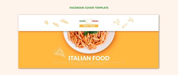 Couverture facebook de nourriture réaliste