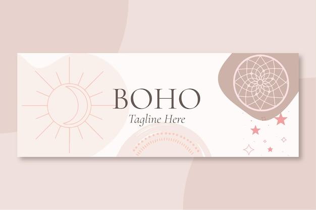 Couverture facebook plate boho