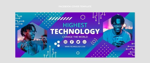 Couverture facebook plate à technologie minimale