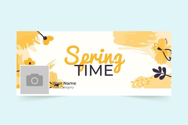 Couverture facebook printemps floral