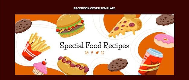 Couverture facebook de restauration rapide dessinée à la main