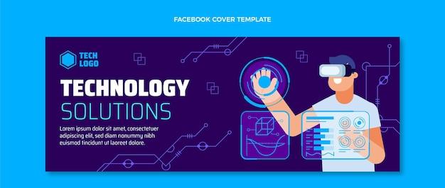 Couverture facebook des solutions technologiques de conception plate