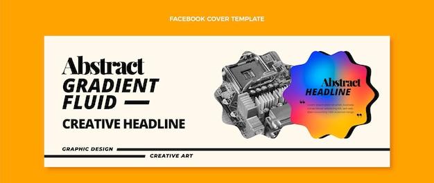 Couverture facebook de la technologie des fluides abstraits dégradés