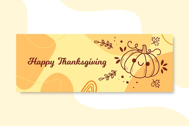 Couverture facebook de thanksgiving