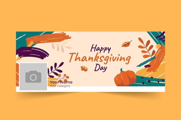Couverture facebook de thanksgiving