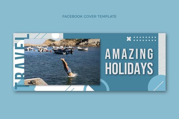 Couverture facebook de vacances incroyables design plat