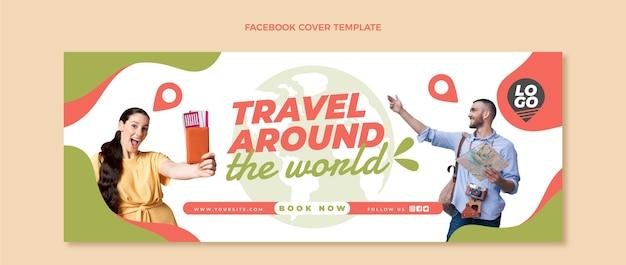 Couverture facebook de voyage plat