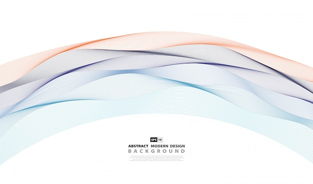 Couverture de fond abstrait coloré motif ondulé.