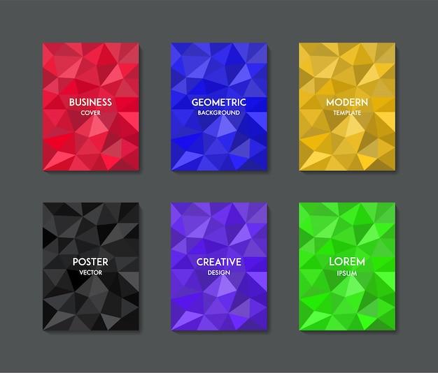 Couverture de fond géométrique coloré minimal