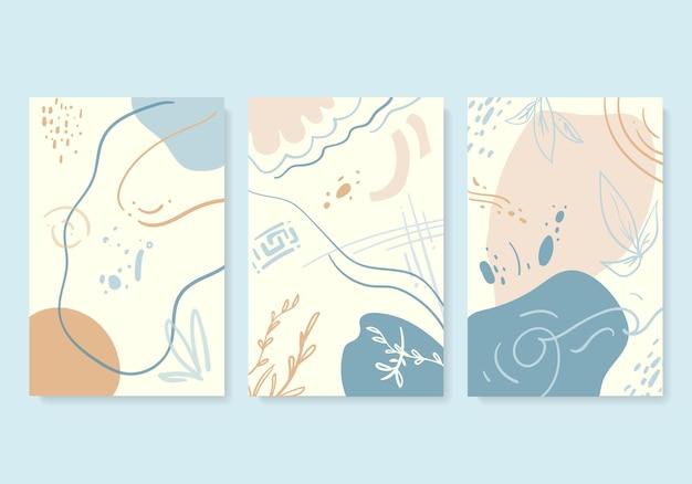Couverture de forme organique abstraite dans un style vectoriel