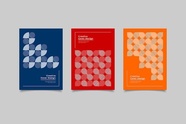 Couverture géométrique design minimaliste