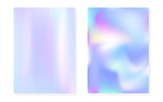 Couverture holographique sertie de fond dégradé hologramme