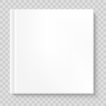 Couverture de livre carrée isolée.
