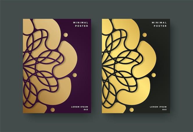 Couverture de livre de luxe avec motif floral