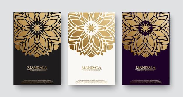 Couverture de livre de style mandala de luxe