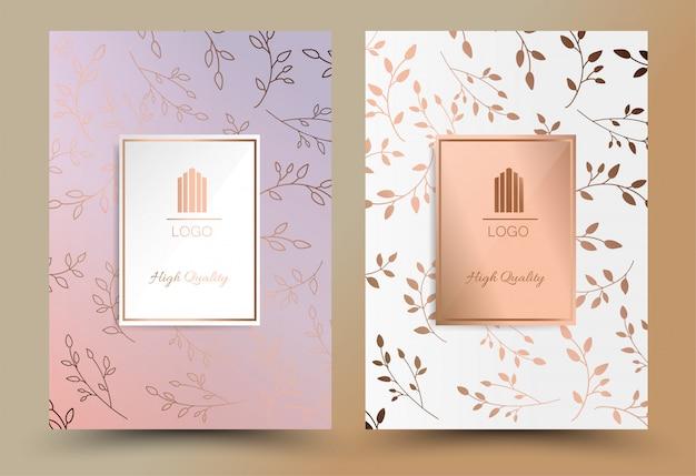 Couverture de luxe design géométrique