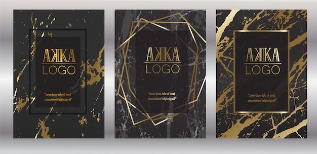 Couverture de luxe premium menu design géométrique