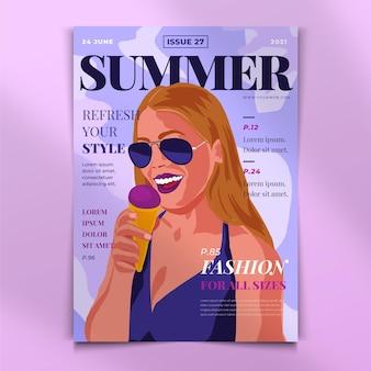 Couverture de magazine détaillée illustrée
