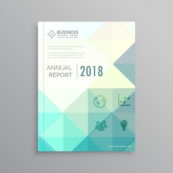 Couverture de magazine élégant rapport annuel conception brochure flyer business modèle