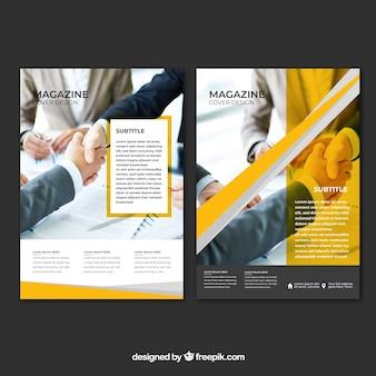 Couverture de magazine d'entreprise avec image