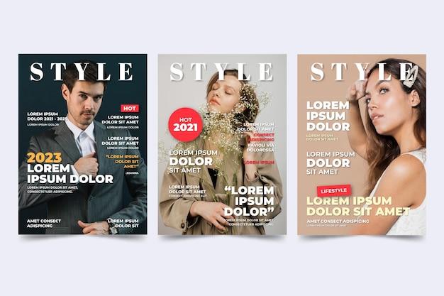 Couverture De Magazine Avec Photo Vecteur gratuit
